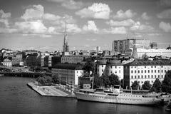 Sztokholm czarny biel Obrazy Royalty Free
