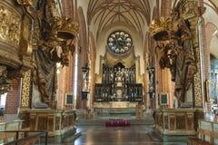 Sztokholm katedra Storkyrkan Zdjęcia Royalty Free