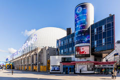 Sztokholm kuli ziemskiej arena zdjęcie royalty free