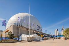 Sztokholm kuli ziemskiej arena Obrazy Stock