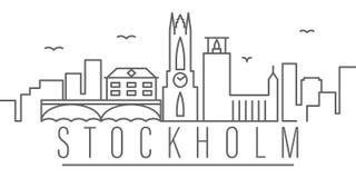 Sztokholm miasta konturu ikona Elementy miast i kraj?w ilustracji ikona Znaki i symbole mog? u?ywa? dla sieci, logo, ilustracja wektor