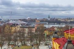 Sztokholm miasta panorama Zdjęcie Stock