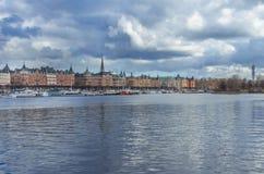Sztokholm miasta stary centrum Zdjęcia Royalty Free