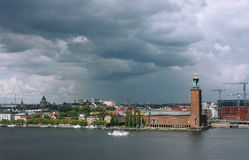 Sztokholm przed deszczem Obrazy Stock