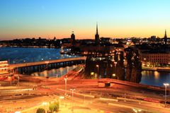 Sztokholm sceneria Zdjęcia Stock