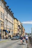Sztokholm Sodermalm brukująca kamienna ulica Obrazy Stock