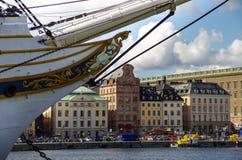 Sztokholm, Szwecja 22 august 2014: Lato sceneria Stary miasteczko Zdjęcia Royalty Free