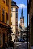 Sztokholm, Szwecja, mężczyzna śpieszy na biznesie Fotografia Stock