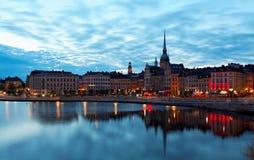 Sztokholm, Szwecja -29 2016 Maj sceniczny lato Obraz Stock