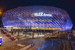 SZTOKHOLM SZWECJA, Marzec, - 5, 2017: Tele2 arena lokalizować w Johanneshov Fotografia Royalty Free