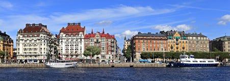 Sztokholm Szwecja, Norrmalm, - gromadzki widok od Starej miasteczka ćwiartki Zdjęcie Royalty Free