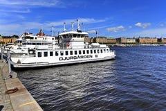 Sztokholm Szwecja, Norrmalm, - gromadzki widok od Starej miasteczka ćwiartki Obraz Royalty Free
