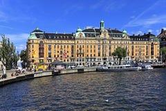 Sztokholm Szwecja, Norrmalm, - gromadzki widok od Starej miasteczka ćwiartki Obraz Stock
