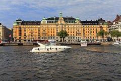Sztokholm Szwecja, Norrmalm, - gromadzki widok od Starej miasteczka ćwiartki Obrazy Stock