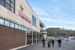 SZTOKHOLM SZWECJA, PAŹDZIERNIK, - 26: autobus VIKING linii firma oczekuje pasażerów przy terminal SZWECJA, PAŹDZIERNIK, - 26 2016 Zdjęcie Royalty Free