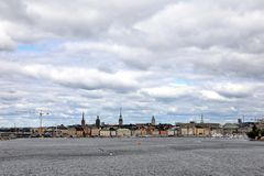 Sztokholm, Szwecja pejzaż miejski od portu zdjęcie stock