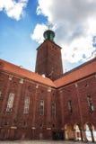 Sztokholm urzędu miasta szczegóły Obraz Stock
