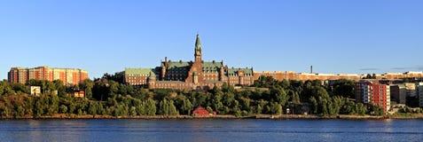 Sztokholm, widok od książe Eug Szwecja, Djurgarden wyspa - Obraz Royalty Free