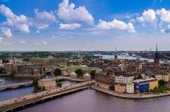 Sztokholm widok od urzędu miasta zdjęcie royalty free