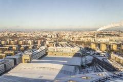 Sztokholm widok w zimie Zdjęcia Stock