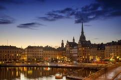 Sztokholm zmierzch Zdjęcie Royalty Free