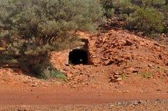 Sztolni podziemnej kopalni wejście Fotografia Royalty Free