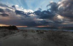 sztorm nad drogą morską Zdjęcia Stock