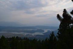 Sztuczna Aoos jeziora 1350m wysokość, Epirus, Grecja Obraz Stock