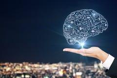 Sztuczna inteligencja i wprowadza innowacje pojęcie zdjęcia stock