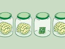Sztuczna inteligencja lub cyfrowy mózg royalty ilustracja