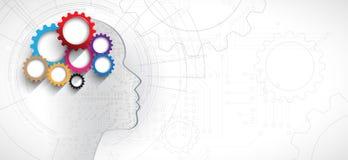 sztuczna inteligencja Technologii sieci tło Wirtualny conc ilustracji