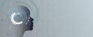 sztuczna inteligencja Technologii sieci tło Wirtualny conc Zdjęcie Royalty Free