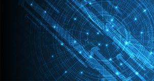 sztuczna inteligencja Technologii sieci tło Wirtualny conc Fotografia Royalty Free