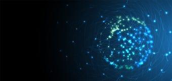 sztuczna inteligencja Technologii sieci tło Wirtualny conc Fotografia Stock