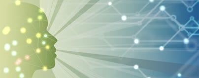 sztuczna inteligencja Technologii sieci tło Wirtualny conc Obraz Stock