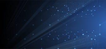 sztuczna inteligencja Technologii sieci tło Wirtualny conc Zdjęcie Stock