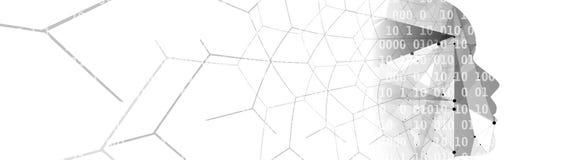 sztuczna inteligencja Technologii sieci tło Wirtualny conc Obrazy Stock