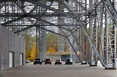 Sztuczna Narciarska Śnieżna arena w Druskininkai zdjęcie stock