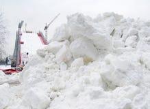 Sztuczna narciarska skłon budowa Zdjęcia Stock