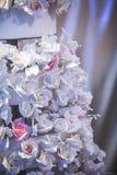 Sztuczne białe róże Zdjęcia Royalty Free