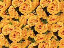 sztuczne kwiaty pomarańczowe Fotografia Stock