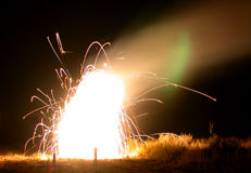 sztuczne ognie ogniska Obraz Stock