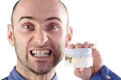 sztuczne zęby. zdjęcia stock