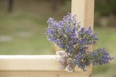 Sztucznego kwiatu bukiet na naturalnym tle zamazującym Zdjęcie Royalty Free