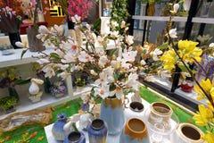 Sztucznego kwiatu dekoraci sklep, adobe rgb Zdjęcia Royalty Free