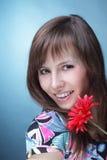 sztucznego kwiatu kobieta Obrazy Stock