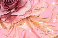 sztucznego kwiatu menchie Zdjęcie Stock
