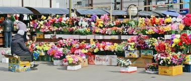 Sztucznego kwiatu sklep Zdjęcia Stock