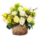 sztucznego kwiatu waza Zdjęcia Stock