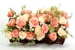 sztucznego tła kwiatu odosobniony biel Obrazy Stock